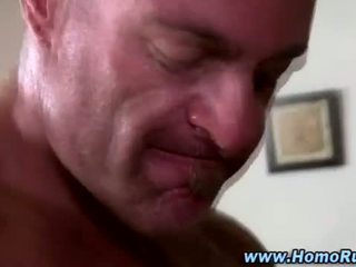 Straight guy cums from being sucked off