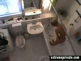 real voyeur movie, fun solo vid, shower fuck