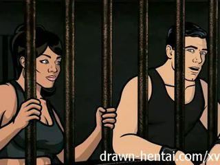 Archer hentai - tù giới tính với lana