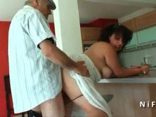 चब्बी युवा फ्रेंच arab गड़बड़ द्वारा पुराना आदमी papy वायियूर