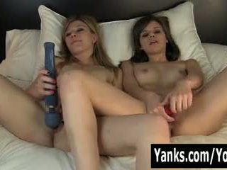 Kinky Girls Ginger and Tessa Toying Their Cunts