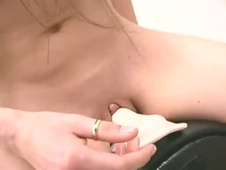 Naughty hoe Holly Hollywood riding a sybian sex machine