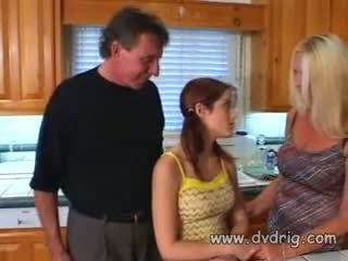Naughtly Little Nympho Kristina Black Catches Pervert Uncle Peeking Through Door And Lets Him Fuck Her Tight Cunt With His Thick Boner