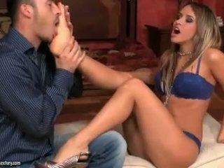 Aleska Diamond enjoying hot foot fetish sex