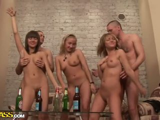 Sexy Nude College Girls Dance And Fuck At Party