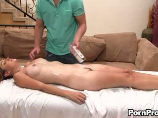 Lusty cưỡi với sừng masseur