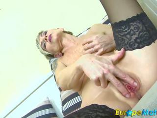 Europemature Slim Granny Ivana Solo Fingering: Free Porn 85