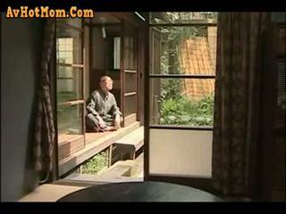 日本の, お父さん, 娘, 父