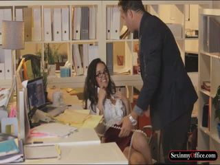 Dillion Harper banged in office table