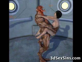 Creatures เพศสัมพันธ์ ทรีดี scifi ทารก!