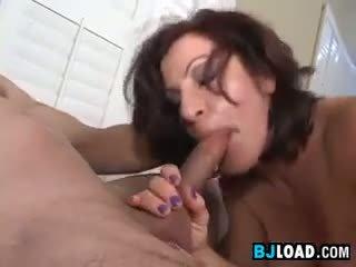 Mature Woman Sucking Some Guys Cock