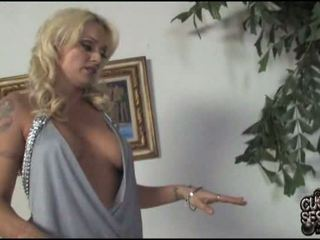 Monica Mayhen gets cocked in front of a cuckold