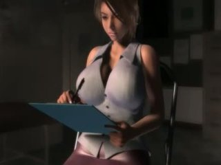 Sexy anime girl in big boobs blows a giant cock