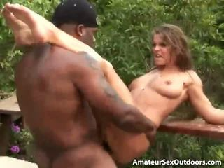Slutty Amateur Babe Rita Faltoyano Gets Pink Beaver Black Humped Outdoors