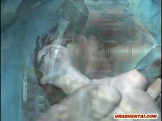 3d animated abgekettet und gefickt von wasser monst