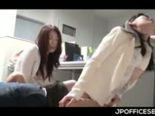 Sex Starved Asian Office Girls Humping Dick In Gangbang At