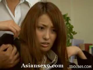 Nao Yoshizaki Horny Asian teacher gets a fucking in class