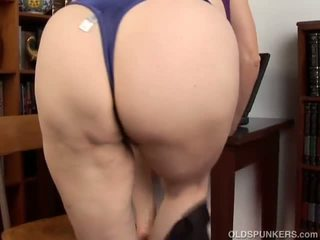 Super Cute Chubby Old Spunker Loves to Fuck Her Fat.
