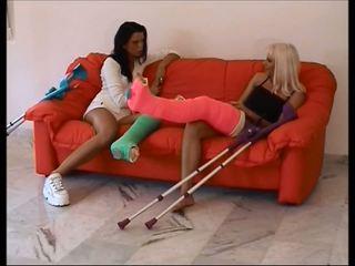 lesbians, foot fetish, femdom