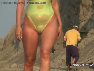 great beach fuck, flashing, public