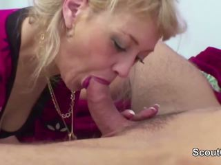 Mom Wake up 18yr Old Step-son to Fuck When Dad Away.