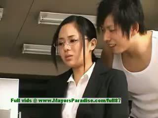 Sora Aoi Innocent Naughty Chinese Secretary Enjoys Getting