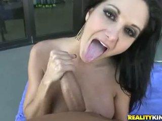 Sexy big boobed Ava Addams slamming hot on a stiff cock until she cums