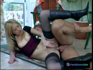 Melanie Silver Getting Both Her Holes Drilled with Fat