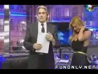Boob Slip On Argentinian Tv