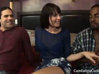 Dana and Her Cuck Husband Share a Black Cock