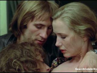 kyssar, kaukasiska, kändis, små bröst