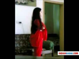 Indisk desi politiet mann enjoying med hans gf i hjem av pornraja