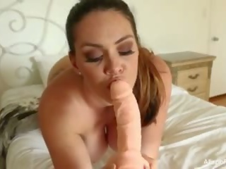 Gorgeous Alison talks to you while playing with herself