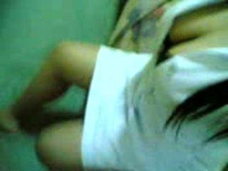 Asiatisk asiatisk pinay sykepleier med superb stor pupper