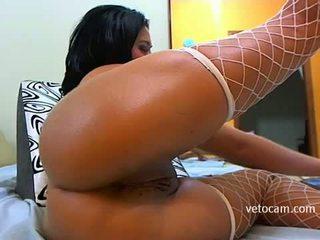 Sexy latina solo hành động trong riêng webcam chương trình