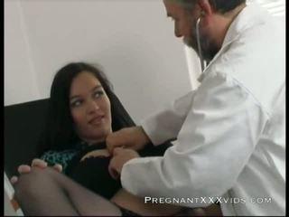 însărcinată, mama, doctor