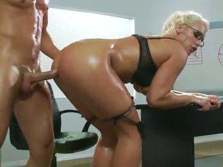 ufficio sesso, sexy, primo anale