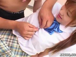 Japanes adolescenta în școală uniforma gets inpulit uncensored
