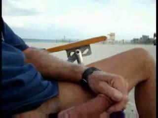plaża, kobieta, szarpanie