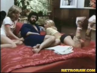 threesome in sex, alleta threesome, retro porn