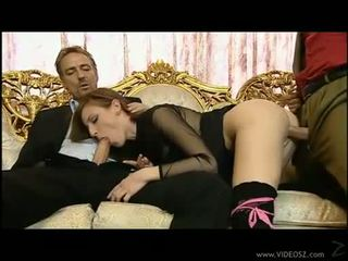 Alluring hot slut Judith Fox pleasures a massive dick in her mouth like candy