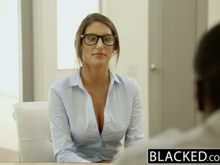 Blacked august ames gets an inter rasial creampie