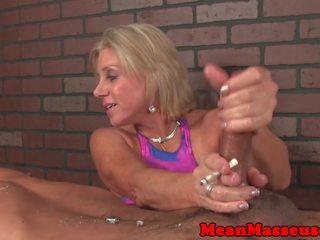 Dominant Cougar Masseuse Dominates Customer: Free Porn 41