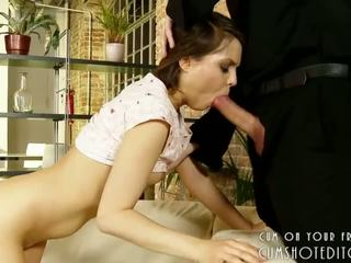 Young Brunette Loves It In The Ass