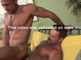 Str8 HUNG 6'7'' firefighter has gay sex.