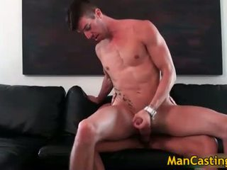 Sexy hunk Chris takes fat rigid cock
