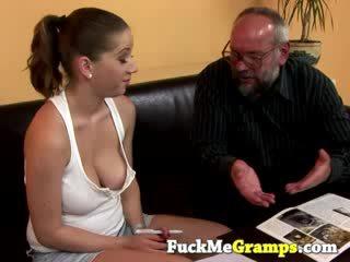 Babe slut rimming old man