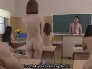 Subtitled uncensored japonais nudiste école pop quiz