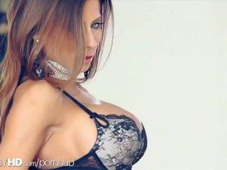 brunette, cunt, store bryster