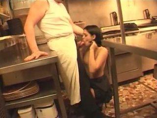 francoska, služkinja, kuhinja